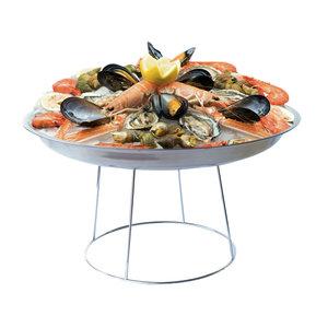 M & T  Seafood tray Ø 37c m x 5 cm deep aluminium set of 12 trays
