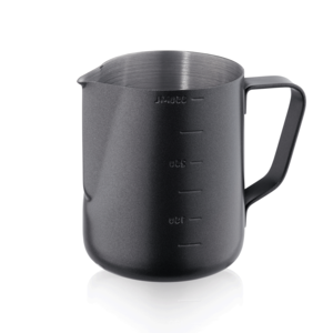 M & T  Jug 0,35 liter outside with black non-stick PTFE coating