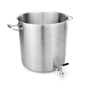 M & T  Kettle 100 liter with tab and lid Ø 50 cm