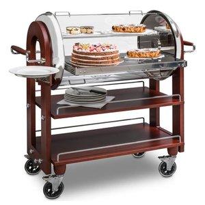 ZEPé Chariot à dessert et fromage roll top automatique
