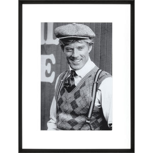 M & T  Robert Redford fotolijst zwart hout 65 x 85 cm