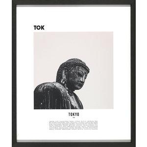 M & T  Fotolijst zwart hout 42 x 50 cm 3 stuks Tokyo, Sydney en San Francisco