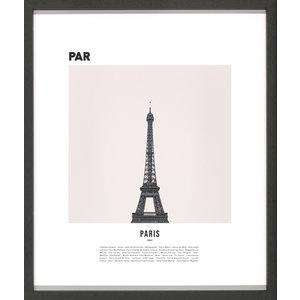 M & T  Fotolijst zwart hout 42 x 50 cm 3 stuks Parijs, Milaan, en Rome