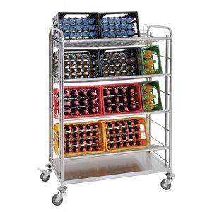M & T  Drankkrattenwagen - wagen voor het vervoeren van bierbakken