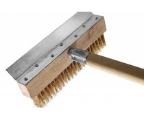M&T Pizza oven brush with scraper