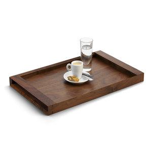 M & T  Dienblad 34 x 27 cm gelakt walnoot hout maat small