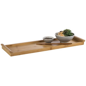 M & T  Dienblad bamboe hout GN 2/4  afm. 53 x 16,2 x h 3 cm