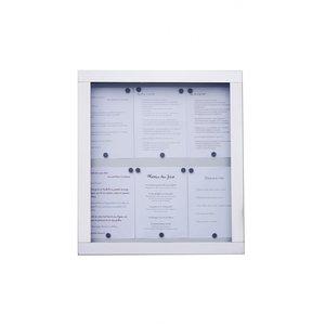 M & T  Menu houder muur model 6 pagina's din A4 met  LED verlichting