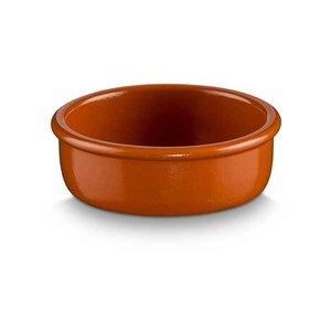 M & T  Kommetje bruin aardewerk diameter 14 cm hoogte 3 cm