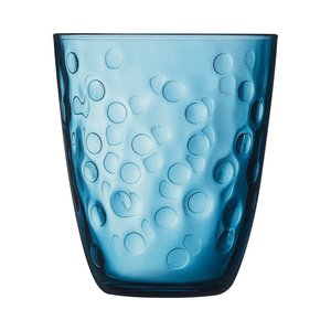 "LUMINARC  Water - en frisdrank glas 31 cl "" Concepto Bulle Pepite "" blauw"
