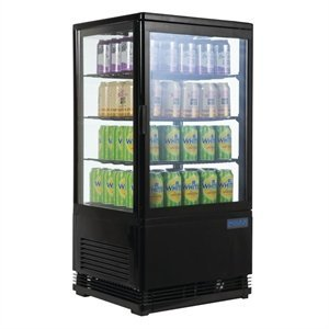 POLAR  Chilled display cabinet 68 liter black