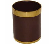 M&T Waste bin brown metal