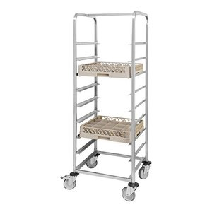 M&T Mobile rack for 9 dishwashing racks