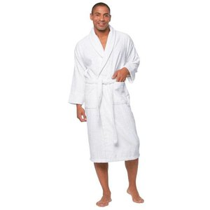 M&T Bath robe white terry