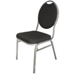 M&T Stapelbare banket - congresstoel zwart