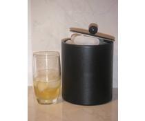 M&T Ice cube bucket black leatherette