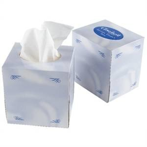 M&T Box with 70 paper 2 ply towels 12 x 12 cm  cube shape