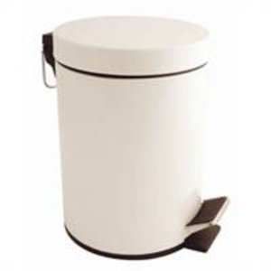 M&T Pedal bin white lacquered 5 lit
