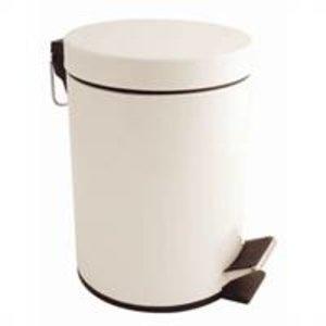 M&T Poubelle à pédale laquée blanche 5 lit