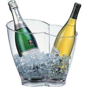 M & T  Wijn- en champagne koeler voor 2 flessen acryl