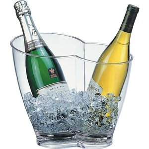 M & T  Wine and champagne cooler acrylic 2 bottles