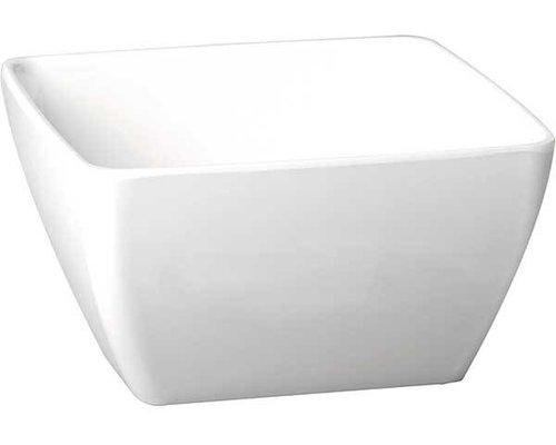 M & T  Bowl square white melamine