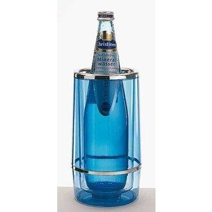 M&T Flessenkoeler dubbelwandig blauw acryl