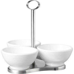APS Stand with 3 round melamine bowls
