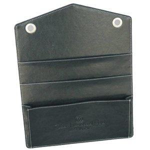 M & T  Laundry file holder black leatherette