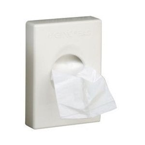 M & T  Houder voor hygienezakjes witte ABS