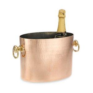Mauviel Wijn- champagne koeler ovaal gehamerd koper