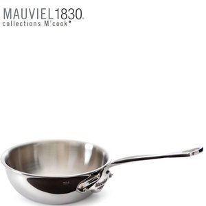 MAUVIEL  Sauté pan curved splayed 24 cm