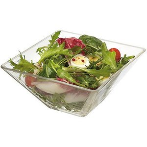 M&T Vierkante glazen bowl 14 x 14 cm Pyramide