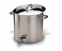 Stockpot 32cm with tap