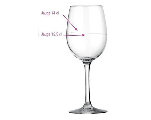 ARCOROC  Wineglass 35 cl Cabernet with calibration