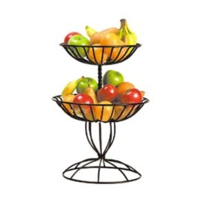 M&T Buffet basket 2 tier black wrought iron