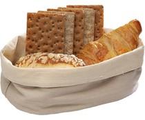 M&T Bread basket beige cotton oval 20 x 15 cm