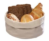 M&T Bread basket beige cotton round 20cm