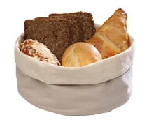 M&T Bread basket beige cotton round 17 cm