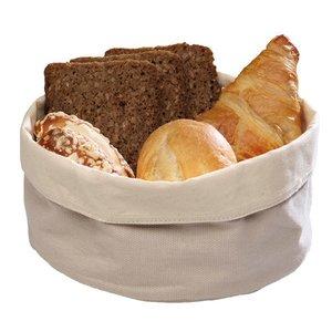 M&T Bread basket beige cotton round 17 cm
