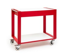 Zepé Serving trolley 2 tiers red