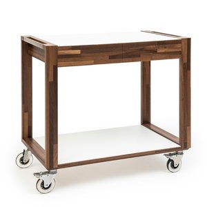 ZEPé Serving trolley 2 tiers walnut