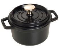 Staub Cocotte round 12 cm black