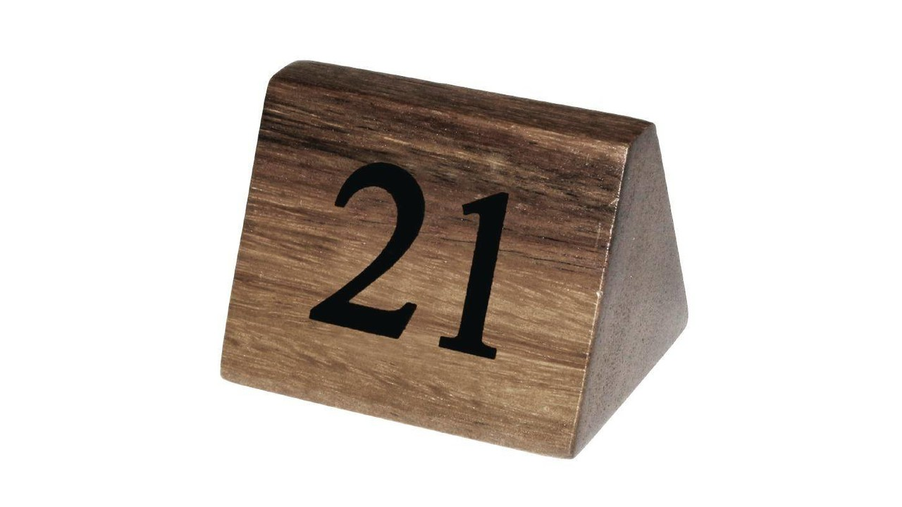 M T Table Number Wood Set From No 21 To No 30 M T International Hotel Restaurant Supplies Nv