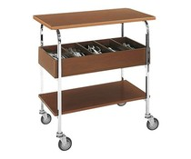 M&T Guéridon trolley with flatware tray 5 cpts