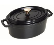 Staub Oval cocotte 27 cm black