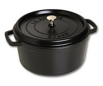 Staub Cocotte round 20 cm black