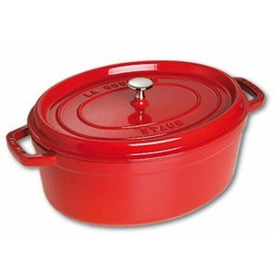 STAUB Oval cocotte 29 cm red