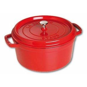 STAUB Cocotte round 26 cm red