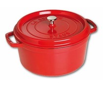 Staub Cocotte rond 20 cm rood